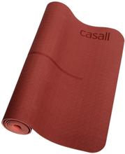 Casall Yoga Mat Position 4mm träningsredskap Röd OneSize