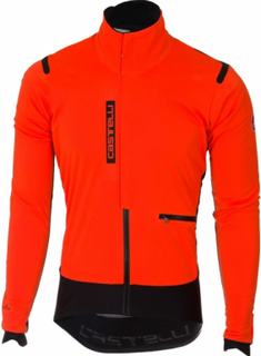 Castelli - Alpha Ros men's Cycling jacket (orange/black) - M