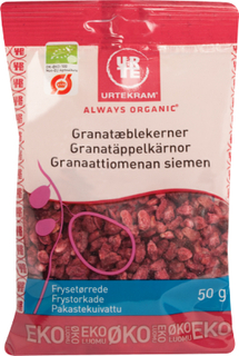 Urtekram Frysetørrede Granatæblekerner Øko 50 g