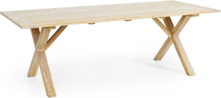Brutus matbord Vitblästrad teak 160x95 cm