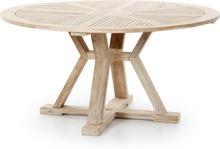 Circus matbord Vitblästrad teak 150 cm