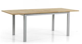 Lyon matbord Silver/teak 152-210x92 cm