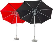 Andria parasoll Silver/svart 3 m