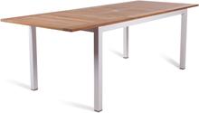 Twin matbord Vit/teak 160-220x90 cm