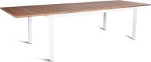 Twin matbord Vit/teak 200-300x100 cm