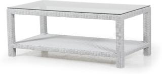 Louisiana soffbord Vit med glas 120x60 cm