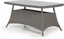 Pompano matbord Beige med glas 153x88 cm