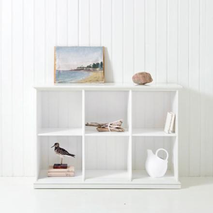 Låg hylla tre sektioner 021319, Oliver Furniture