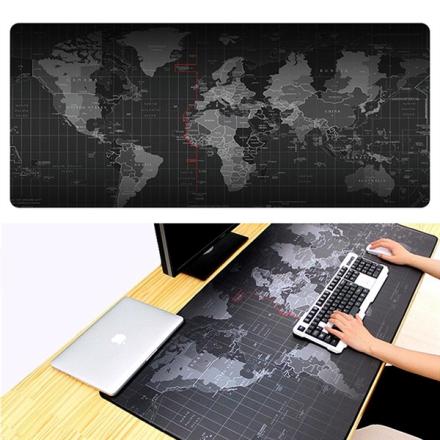 Suuri hiirimatto maailmankartalla - 30x60cm