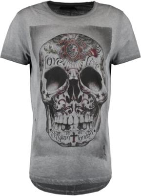 Religion TRIBES SKULL Tshirt med tryck dark grey