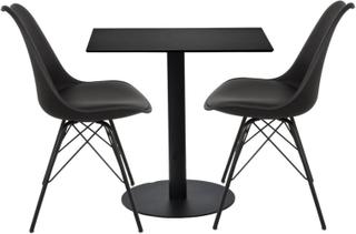 Spisebordssæt - Colin firkantet cafebord + 2 comfort stole