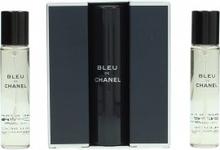 Chanel Bleu de Chanel Gift Set 3 x 20ml EDT (1 Purse Sprej + 2 Refills)