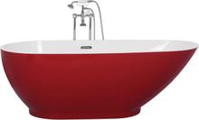 Beliani Badkar fristående röd GUIANA