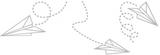 Fönsterfilm - pappersflygplan 100cm x 33cm
