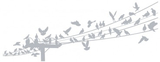 Fönsterfilm - fåglar 100cm x 33cm