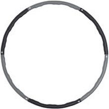 Hula Hoop -hulavanne 1,5kg (musta-harmaa)
