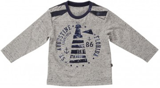 Minymo barn t-shirt kasper 03 -t-shirt ls light grey melange