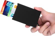 Korthållare kreditfodral RFID-skydd Aluminium Pop-up - OBS Guldfärg