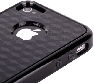 Cubus - dual compound (svart) iphone 4/4s kombinationsskal