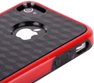 Cubus - dual compound (röd) iphone 4/4s kombinationsskal
