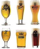Öl i världen glaset Ställ 6 sorters öl glasögon sa