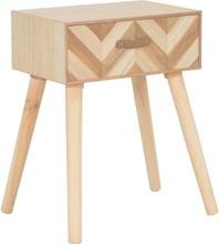 vidaXL Sängbord med låda 44x30x58 cm massivt trä
