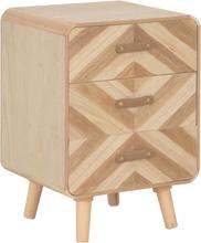 vidaXL Sängbord med 3 lådor 40x35x56,5 cm massivt trä