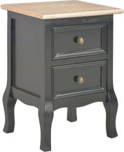 vidaXL Nattduksbord svart 35x30x49 cm MDF