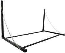 ProPlus Väggmonterat däckställ stål svart