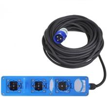 ProPlus 3-vägs strömuttag schuko 20 m