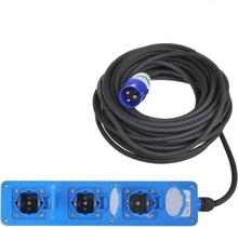 ProPlus 3-vägs strömuttag schuko 10 m
