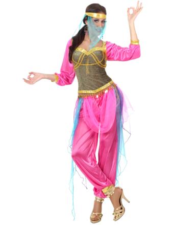 Kostume arabisk-inspireret danserinde lyserød voksen - Vegaoo.dk