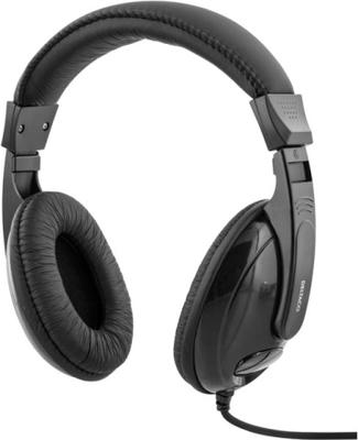 Deltaco hörlurar, sluten, volymkontroll, 2,5m kabe