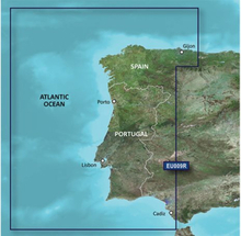 Portugal - Nordvästra Spanien Garmin microSD™/SD™ card: HXEU009R