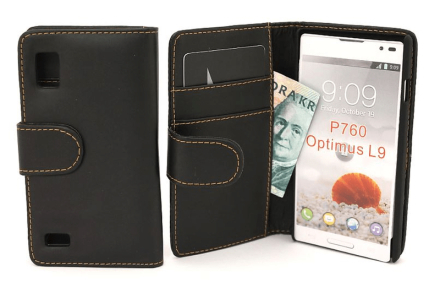 Plånboksfodral lg optimus l9 (p760) svart