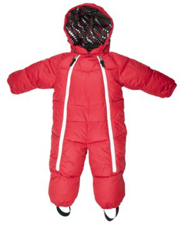 Lindberg solitude baby overall red