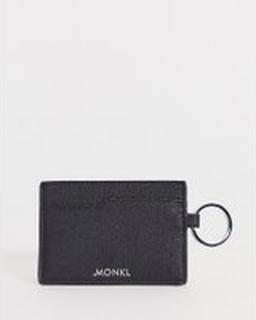 Monki card holder in black - Black