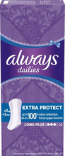 Always Dailies Long Plus Extra Protect 22 st mild doft