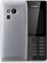 Nokia 216 Enfärgat silikon skal - Vit