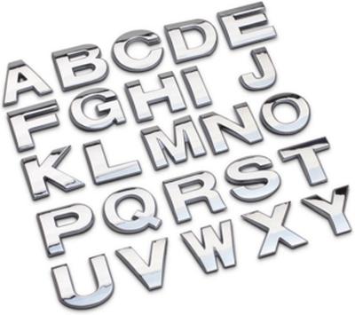 Kromade bokstäver och siffror