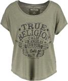 True Religion Tshirt med tryck dusty olive