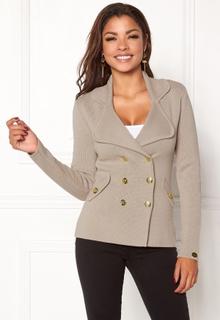 Chiara Forthi Chiara Heavy Knit Blazer Grey-beige XXL (EU48)