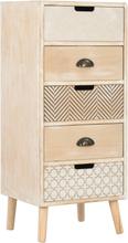 vidaXL Byrå med 5 lådor 40x35x95,5 cm