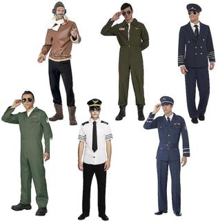 Pilot kostym för män pilot jumpsuit pilot kostym kostym 6 stilar va...