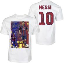 Barn t-shirt - messi 10 - barcelona - tryck fram & bak