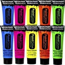 UV ansikts- och kroppsfärg för 10 personer
