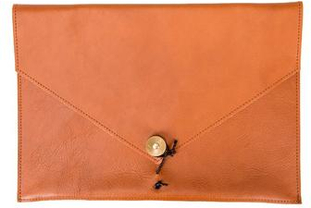 "P.A.P Kungsten Leather Laptop Cover 13"" Tan Brun"