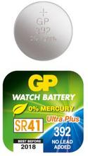 GP BATTERIES Knappcellsbatteri GP 392F SC1/SR41W 101029 Replace: N/AGP BATTERIES Knappcellsbatteri GP 392F SC1/SR41W
