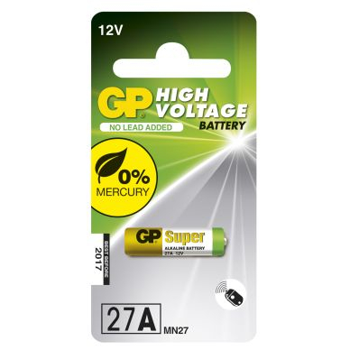 GP BATTERIES GP Alkaliskt specialbatteri 12V, 27A 103021 Replace: N/AGP BATTERIES GP Alkaliskt specialbatteri 12V, 27A