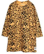 Långärmad Klänning Basic Leopard